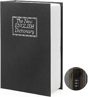 Diversion Book Safe Storage Box, Dictionary Secret Safe Can with Security Combination Lock/Key, Diversion Book Hidden Safe...