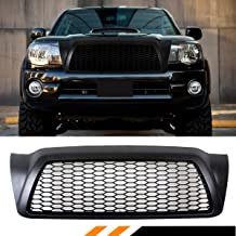 Fits for 2005-2011 Toyota Tacoma Matt Black JDM Front Hood Honeycomb Mesh Grill Grille Replacement