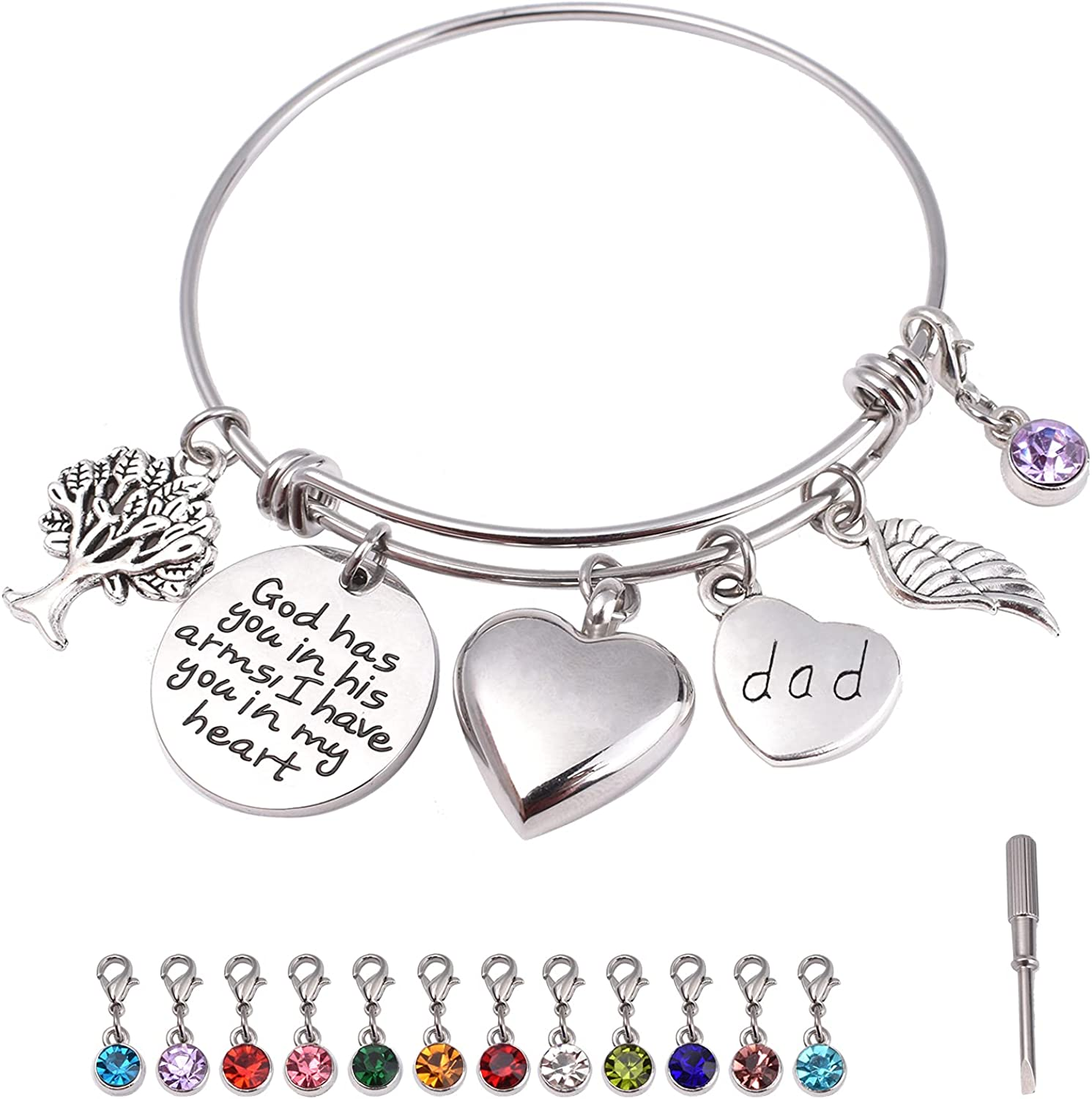 Personalized low-pricing Urn Bracelet for Store Ashes of Son Daughter Mom Dad Brot