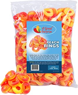 Peach Rings - Gummy Rings Candy - Gummy Rings Bulk - Orange Candy - Bulk Candy - 5 Pounds (Peach)