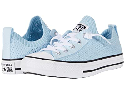 Converse Kids Chuck Taylor(r) All-Star(r) Shoreline Knit (Little Kid/Big Kid) (Agate Blue/Black/White) Girls Shoes
