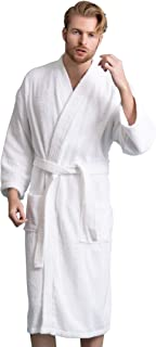 Men's Bathrobe Comfortable 100% Turkish Cotton, Soft, Warm in 10 Colors