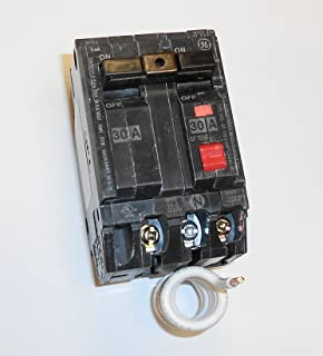 GE THQL2130GFT Plug-In Mount Type THQL Feeder Self-Test Ground Fault Circuit Interrupter 2-Pole 30 Amp 120/240 Volt AC