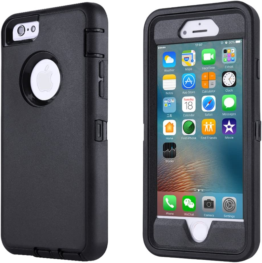 Co-Goldguard Case for iPhone 6/6s,Heavy Duty 3 in 1 Built-in Screen Protector Durable Cover Dust-Proof Shockproof Drop-Proof Scratch-Resistant Shell for Apple iPhone 6/6s 4.7 inch,Black