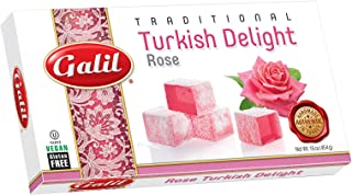 Galil Turkish Delight, Rose, 16-Ounce Boxes (Pack of 4)