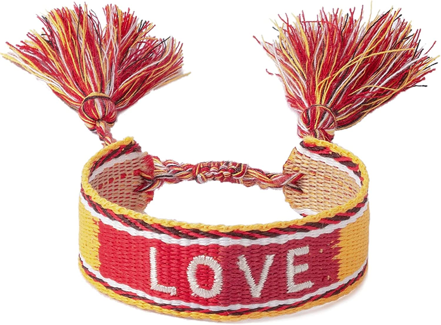 Woven Friendship Wrap Bracelets – LOVE Max Max 75% OFF 67% OFF Knitted Adjusta Word