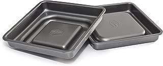 Mrs. Fields Bakeware Fill N' Flip 9-Inch Locking Layer Cake Set, Square, Gray