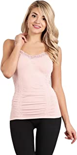 M. Rena Women's Lace Camisole-One Size Fits Most (One Size, Pink Sand)