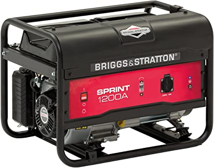 Briggs & Stratton SPRINT 1200A, generador portátil de gasolina - Potencia en marcha de 900/Potencia inicial de 1125