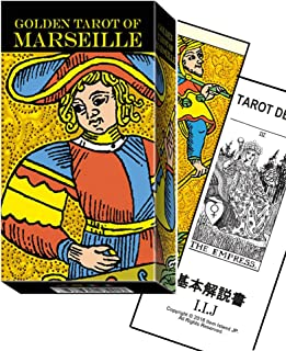 タロットカード 78枚 マルセイユ版 タロット占い 【ゴールデン タロット オブ マルセイユ Golden Tarot of Marseille 】日本語解説書付き [正規品]