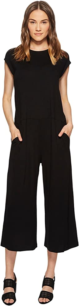 Lightweight Viscose Jersey Wide Leg Jumpsuit
