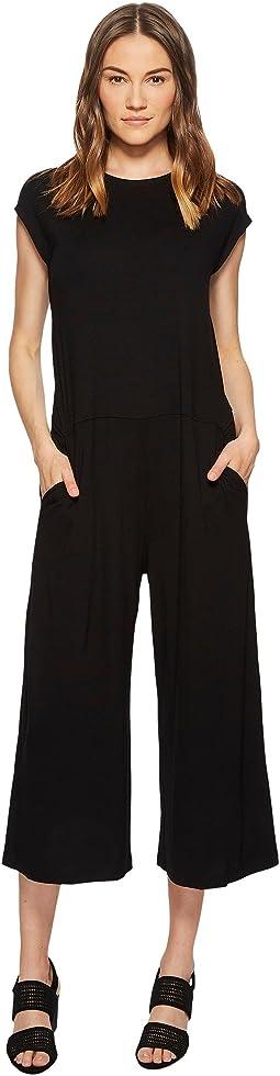 Eileen Fisher - Lightweight Viscose Jersey Wide Leg Jumpsuit