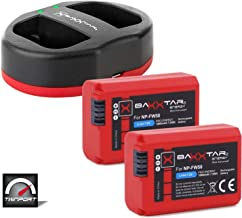 Baxxtar Pro Set replacement for battery Sony NP-FW50  2x  with Twin Port 1822 charger  USB DUAL