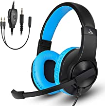 DIWUER Gaming Headset for Xbox One, PS4, Nintendo Switch, Bass Surround and Noise Cancelling 3.5mm Over Ear Headphones with Mic for Laptop PC Smartphones