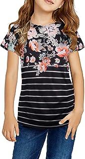 Dokotoo Girls Short Sleeve Shirts Sweat Girls' Tops, Tees & Blouse