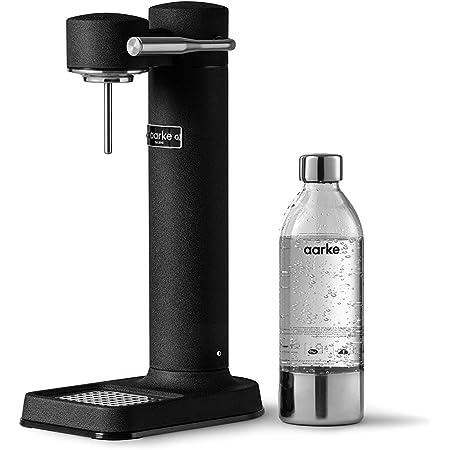 aarke Machine à Eau pétillante Carbonator 3 avec boîtier en acie Finition Noir Mat r Inoxydable et Bouteille en Pet de qualité supérieure