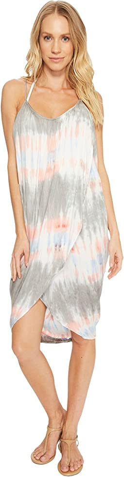 Miami Tie-Dye Pali Wrap Dress