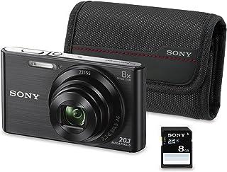 Sony DSC-W830 - Cámara compacta de 20.1 Mp (pantalla de 2.7 zoom óptico 8x estabilizador óptico) negro - Kit cámara + Funda + SD 8 GB