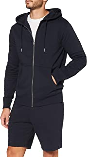 MERAKI Sweat-Shirt Zippé à Capuche Homme, Coton Organique