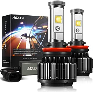 ASAKA 9006 LED Headlight Bulbs, 30W 6000K 7200Lumens Extremely Bright HB4 CREE Chips All-in-One Conversion Kit-3 Year Warranty(Pack of 2)
