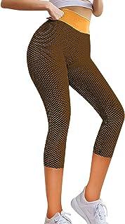 Riou Leggins Donna Sportivi Anticellulite Pantaloni Fitness Vita Alta Leggings Compressione per Palestra Fitness Pantaloni...
