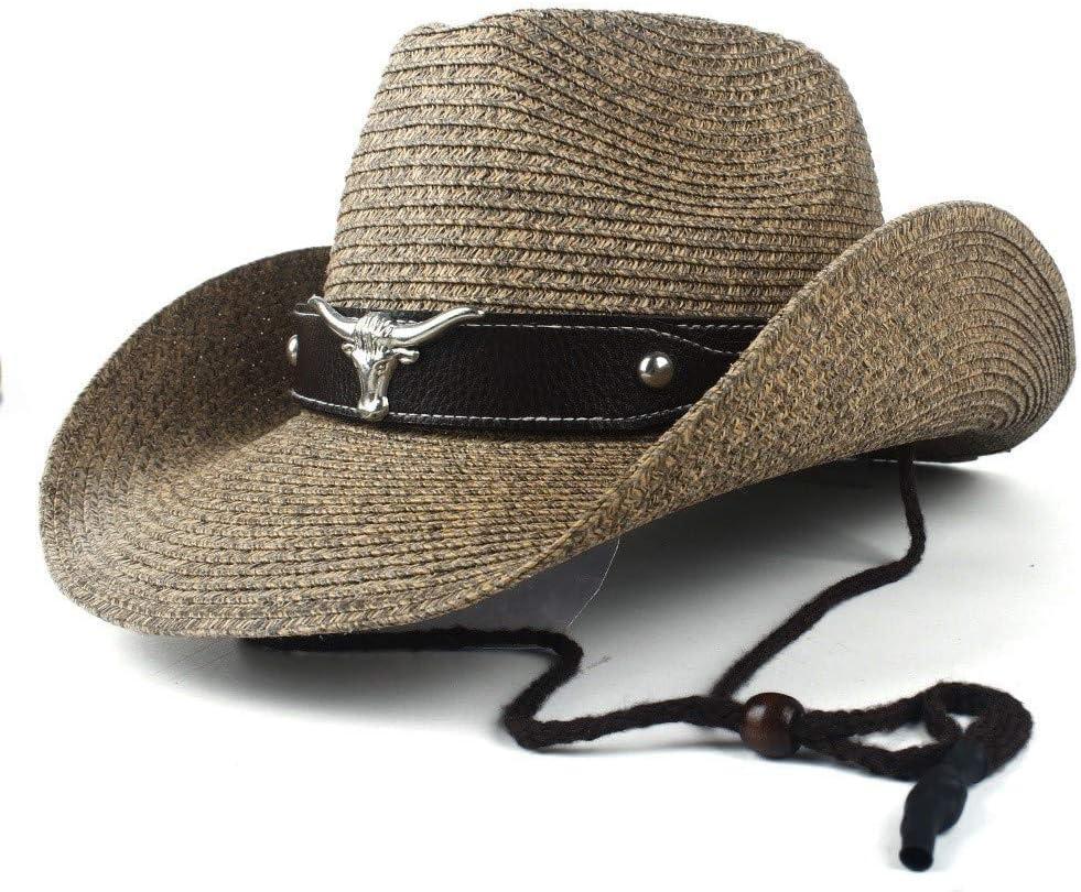 LHZUS Hats New Summer Straw Beach Max 63% OFF H Cowboy Hat Western favorite