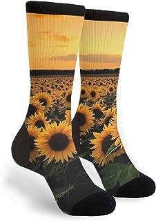 Sunflowers Unisex Adult Fun Cool 3D Print Colorful Athletic Sport Novelty Crew Tube Socks