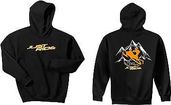 Just Ride Mountain Sled Steeper & Deeper Hoodie Sweatshirt Black