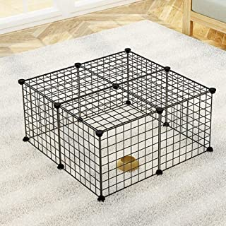 Mumoo Bear 12 Panels Pet Rabbit Bunny Playpen Small Animal Cage Indoor Portable Yard Fence Guinea Pigs, Puppy Kennel Crate...