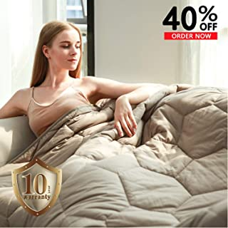 YEMYHOM 100% Cotton Weighted Blanket Adult Bed Heavy Blankets for Great Sleeping (60
