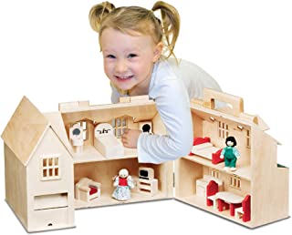 Puppen & Zubehör Melissa & Doug Doll Family and Furniture Sets