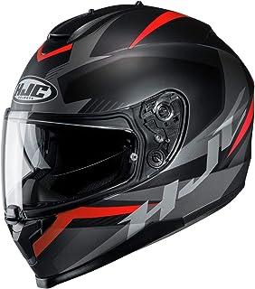 HJC C70 Helmet - Troky (Large) (Black/RED)