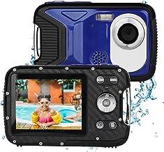 BYbrutek Digital Camera for Kids, 21MP FHD 1080P 5 Meter Waterproof Underwater Camera, 2.8 Inch LCD, 8X Digital Zoom, with 1050MaH Rechargable Li-Ion Battery (Blue)