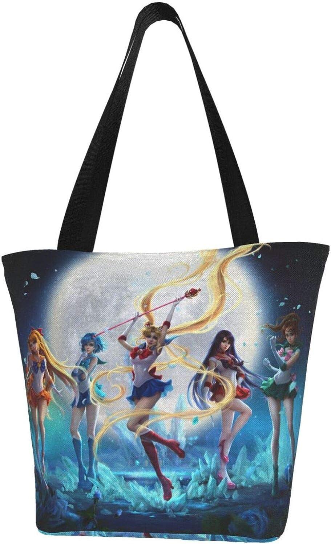 Gorgeous Sailor Moon Shoulder Bag Rapid rise Woman Large Handbag Lig Tote Casual