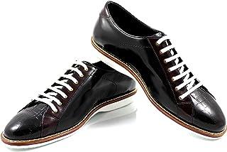 CANNERI Scarpe Stringate Uomo -9072 - Nero/bordò - Sneaker - Casuale e Business - Scarpa Classica in Pelle con Design e Stile