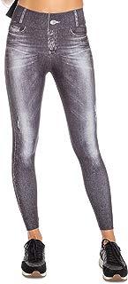 Calça Legging Jeans Daily Look - Cinza Denin - P - LIVE!