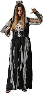 Women's Skeleton Costume Women Halloween Scary Dresses Adult Sexy Costumes for Women - Cosplay Party