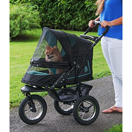 Pet Gear No-Zip NV Pet Stroller for Cats/Dogs, Zipperless Entry, Easy One-Hand Fold, Gel-Filled Tires, Plush Pad + Weather Cover Included, Optional Divider