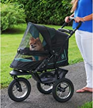 Pet Gear No-Zip NV Pet Stroller for Cats/Dogs, Zipperless Entry, Easy One-Hand Fold, Air Tires, Plush Pad + Weather Cover Included, Optional Divider