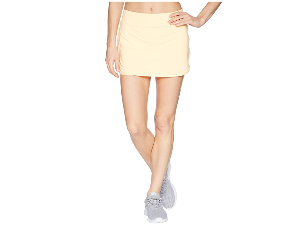 Nike Court Pure Tennis Skirt (Tangerine Tint/White) Women