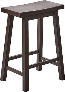 PJ Wood 24-Inch Saddle Seat Counter Stool - Walnut