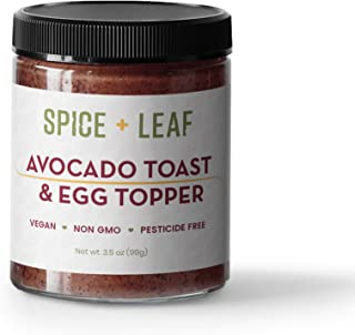 Premium Avocado Toast & Breakfast Topper by SPICE + LEAF - Vegan Pesticide Free Spice Blend Usedto Give Avocado, Eggs, Salad and Fish a Pop of Flavor, 3.5 oz.