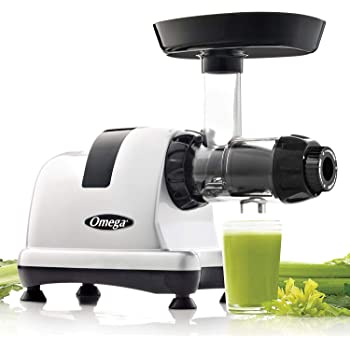 Omega MM900HDS Medical Medium Slow Masticating Celery Juicer High Juice Yield Adjustable Dial, 200-Watt, Silver