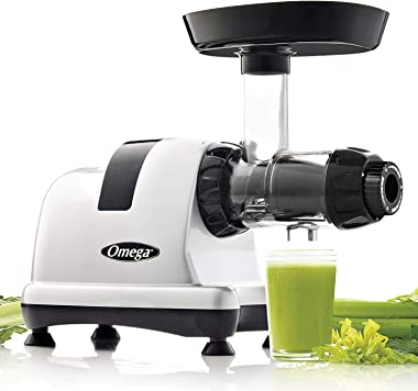 Omega MM900HDS Medical Medium Slow Masticating Celery Juicer High Juice Yield Adjustable Dial, 200-Watt, Silver