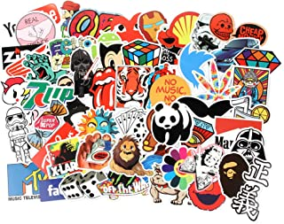 Cool Laptop Stickers Pack 100 pcs 6 Series Stickers Variety Vinyl Car Sticker Motorcycle Bicycle Luggage Decal Graffiti Patches Skateboard Stickers for Laptop Stickers for Kid and Adult (A)
