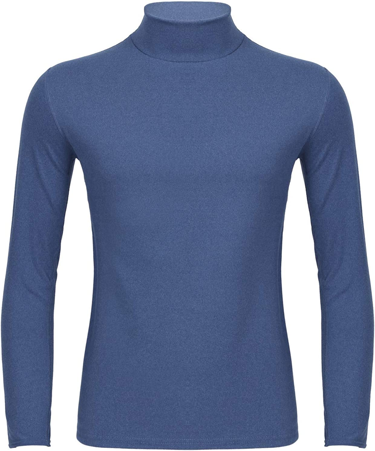 moily Thermal Underwear Tops for Men Turtleneck Long Sleeve Undershirt Base Layer Shirts