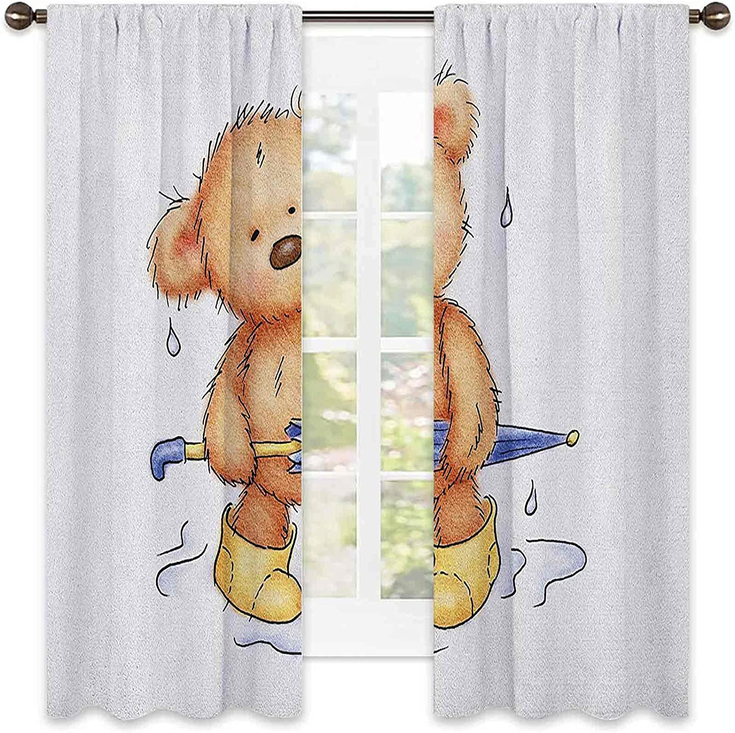 Bear Shading Insulated Curtain Teddy up Rain Caught Max 61% OFF in Fees free!! wit