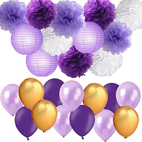 Purple And Gold Wedding Shower Decorations Amazon Com