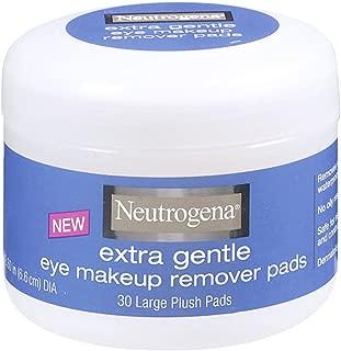 Neutrogena Extra Gentle Eye Makeup Remover Pads, Sensitive Skin 30 Count (Pack of 2)