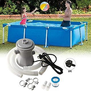 Azonesyeo - Bomba de filtro de piscina, limpiador de piscina, filtro de circulación para estanques y piscinas (300 gal / 1136 l por hora)